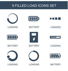 Load icons vector