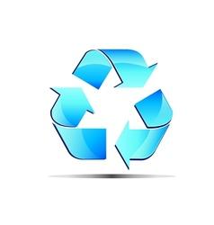 logo renewable blue vector image