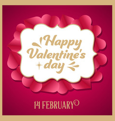 luxury valentines day card vector image
