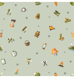 Modern flat design pattern of camping and hiking vector image
