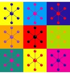 Molecule sign Pop-art style icons set vector image
