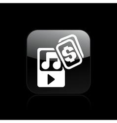 Music buy vector