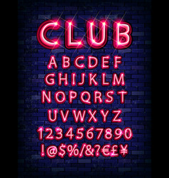 new modern neon set glowing alphabet vector image