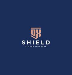 Ox dx shield logo vector