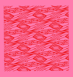 Pattern of red lines and circles on a lilac or vector