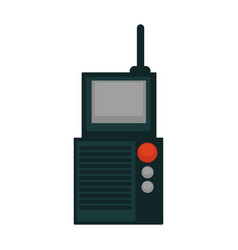 Portable radio set vector