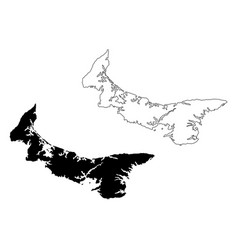 Prince edward island province and territory of vector