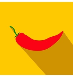 Red hot chili pepper icon flat style vector image