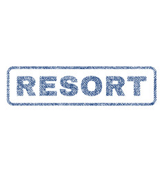 Resort textile stamp vector