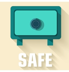 Retro flat safe icon concept design vector