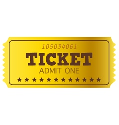 Retro golden Coupon isolated on white vector image