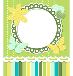 Romantic vintage frame vector image