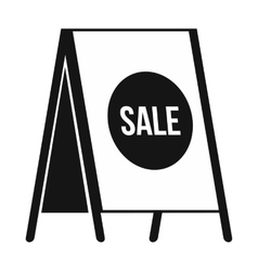 Sandwich board with text Sale icon simple style vector image