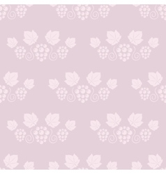 Seamless grape vines pink background vector image