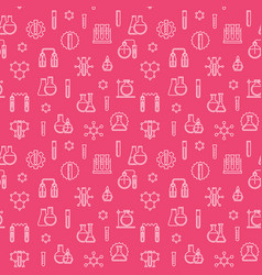 seamless pattern with outline chemistry vector image