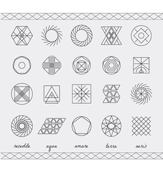 Set of geometric hipster shapes453 vector