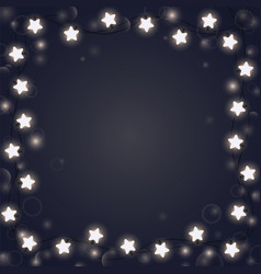 shining garland forming a square frame festive vector image