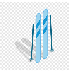 ski equipment isometric icon vector image