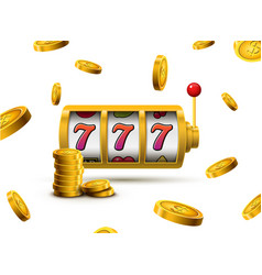 slot machine lucky sevens jackpot concept 777 vector image
