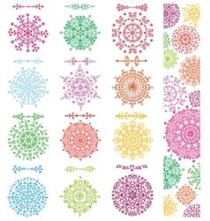 Snowflakes shapesdivider borders setpattern vector