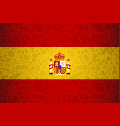 spain flag background for russian soccer event vector image