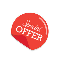 special offer sticker vector image