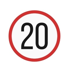 Speed limit 20 vector image