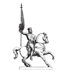 Statue was one of the leaders of the first vector