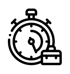 Stopwatch and suitcase agile element icon vector