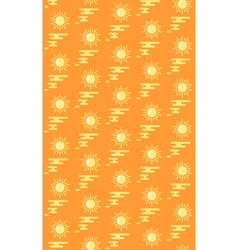 Summer bright pattern with suns and water isolated vector image
