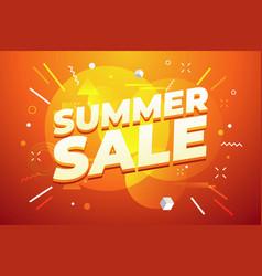 summer sale promotion banner design vector image
