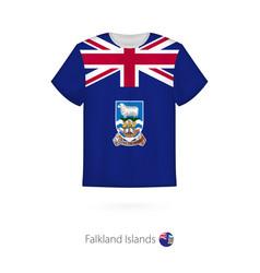 T-shirt design with flag falkland islands vector
