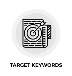 Target Keywords Line Icon vector image