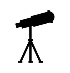 telescope device spacial icon vector image