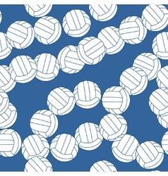 Volleyball seamless pattern Sports balls on blue vector