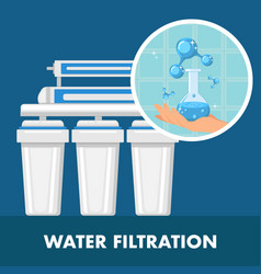 water filtration poster template with text space vector image