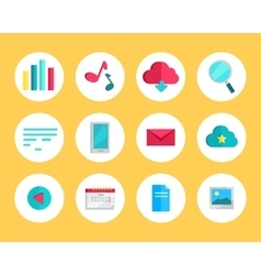 Web Round Icons Set vector