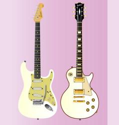 White guitar collection vector