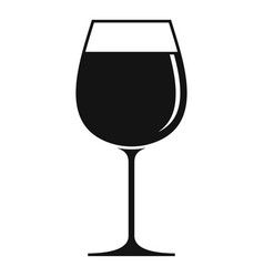 wine glass icon simple style vector image