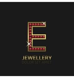Golden Letter E vector image