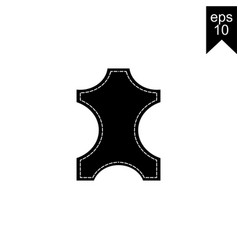 leather icon vector image vector image