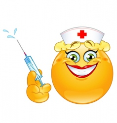 nurse emoticon vector image