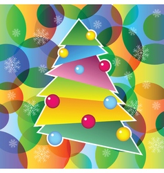 richly decorated Christmas tree vector image