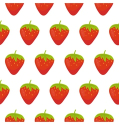 Strawberries seamless pattern vector image