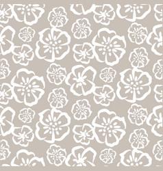 tender grey sketch simple flower pattern vector image vector image