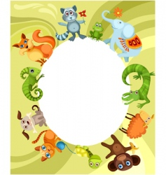 animal card vector image vector image