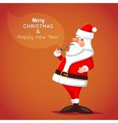 Cartoon Santa Claus Character Icon on Stylish vector image vector image