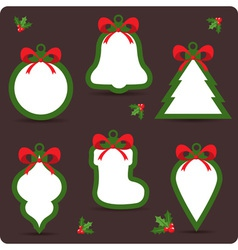 Colorful winter Christmas sale stickers vector image