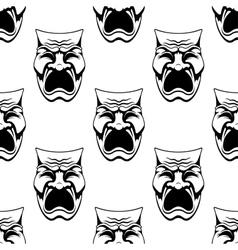 Dramatic doodle sketch masks seamless background vector image