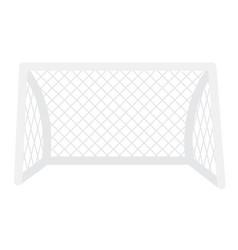 football gate with net cartoon vector image vector image